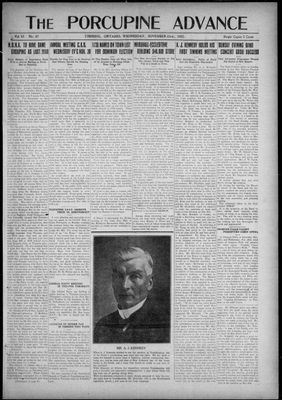 Porcupine Advance, 23 Nov 1921