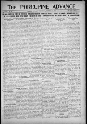Porcupine Advance, 7 Dec 1921
