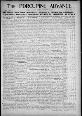 Porcupine Advance, 14 Dec 1921