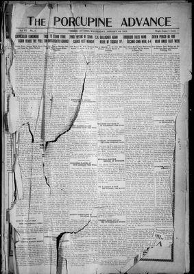 Porcupine Advance, 4 Jan 1922