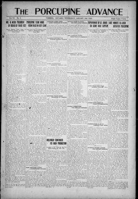 Porcupine Advance, 18 Jan 1922