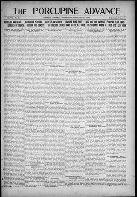 Porcupine Advance, 15 Feb 1922