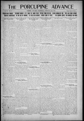 Porcupine Advance, 22 Feb 1922