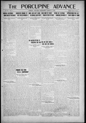 Porcupine Advance, 1 Mar 1922