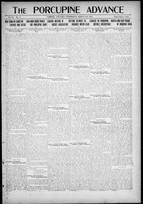 Porcupine Advance, 15 Mar 1922