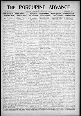 Porcupine Advance, 29 Mar 1922