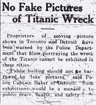 No Fake Pictures of Titanic Wreck