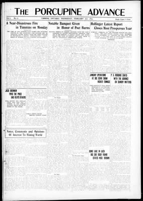 Porcupine Advance, 2 Feb 1916