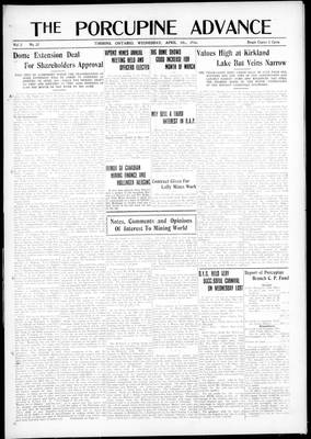 Porcupine Advance, 5 Apr 1916