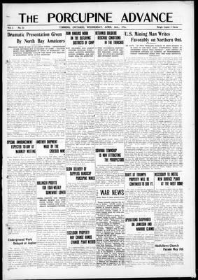 Porcupine Advance, 26 Apr 1916