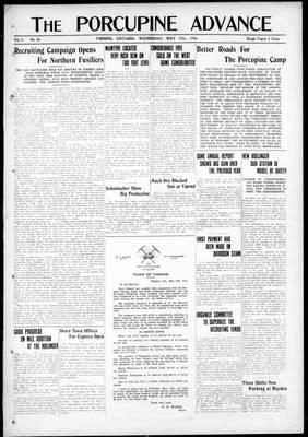 Porcupine Advance, 17 May 1916