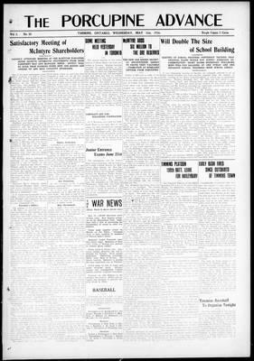 Porcupine Advance, 31 May 1916