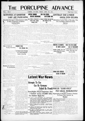 Porcupine Advance, 25 Jun 1915