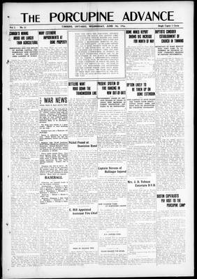 Porcupine Advance, 7 Jun 1916