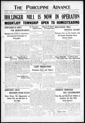 Porcupine Advance, 5 Jul 1912