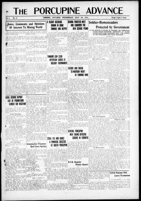 Porcupine Advance, 5 Jul 1916