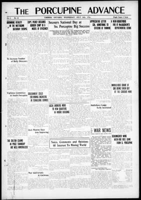 Porcupine Advance, 26 Jul 1916
