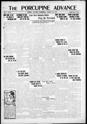 Porcupine Advance, 9 Aug 1916