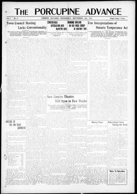 Porcupine Advance, 20 Sep 1916