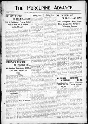 Porcupine Advance, 4 Oct 1912