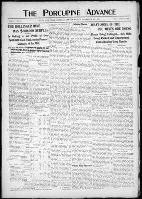 Porcupine Advance, 8 Nov 1912