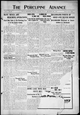 Porcupine Advance, 20 Dec 1912