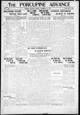 Porcupine Advance, 3 Dec 1915
