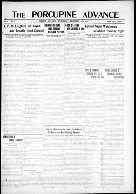 Porcupine Advance, 27 Dec 1916