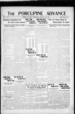 Porcupine Advance, 10 Jan 1917
