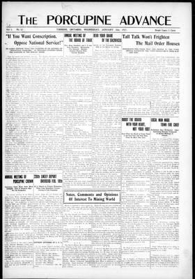 Porcupine Advance, 31 Jan 1917