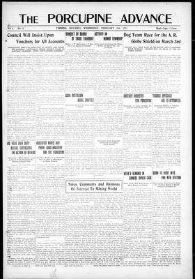Porcupine Advance, 21 Feb 1917