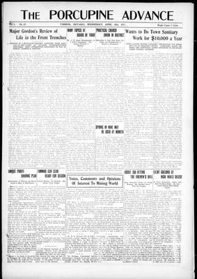 Porcupine Advance, 18 Apr 1917