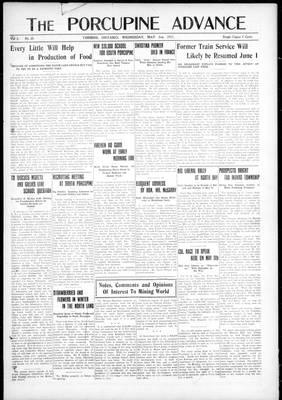 Porcupine Advance, 2 May 1917