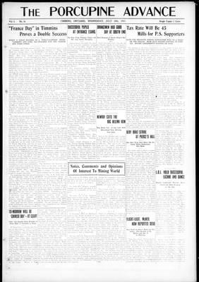 Porcupine Advance, 18 Jul 1917