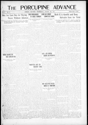 Porcupine Advance, 8 Aug 1917