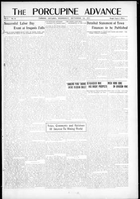 Porcupine Advance, 5 Sep 1917