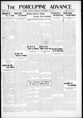 Porcupine Advance, 19 Sep 1917