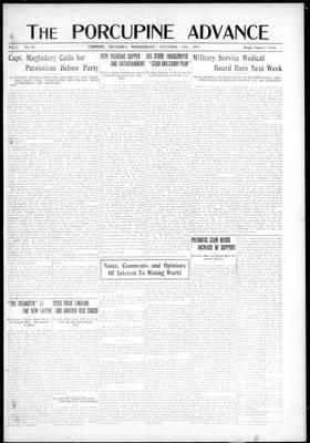 Porcupine Advance, 17 Oct 1917