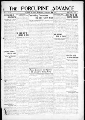 Porcupine Advance, 7 Nov 1917