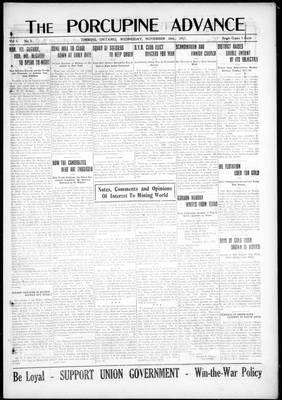 Porcupine Advance, 28 Nov 1917