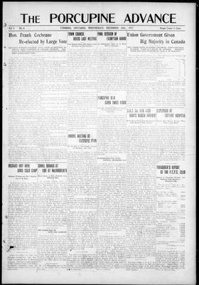 Porcupine Advance, 19 Dec 1917