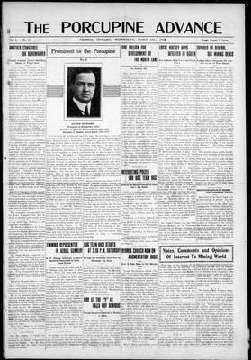 Porcupine Advance, 13 Mar 1918