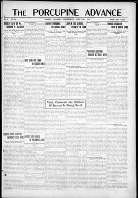 Porcupine Advance, 10 Apr 1918
