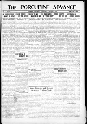 Porcupine Advance, 29 May 1918