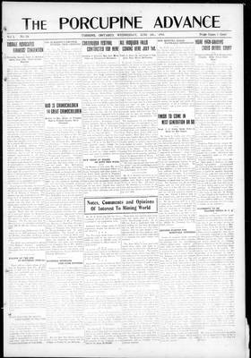 Porcupine Advance, 5 Jun 1918, Section 1, p. 1