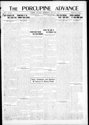 Porcupine Advance, 10 Jul 1918