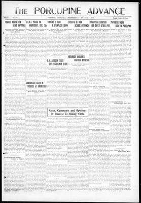 Porcupine Advance, 31 Jul 1918