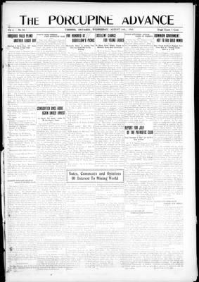 Porcupine Advance, 14 Aug 1918