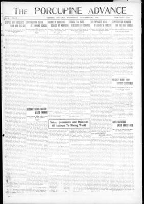 Porcupine Advance, 4 Sep 1918
