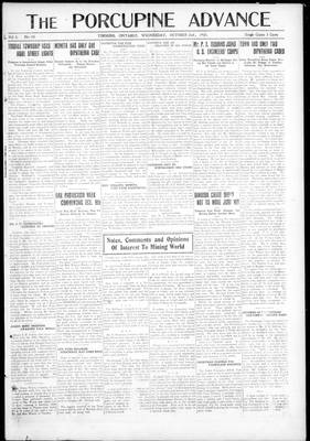Porcupine Advance, 2 Oct 1918